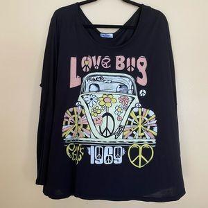Lauren Moshi Love bug long sleeve tee